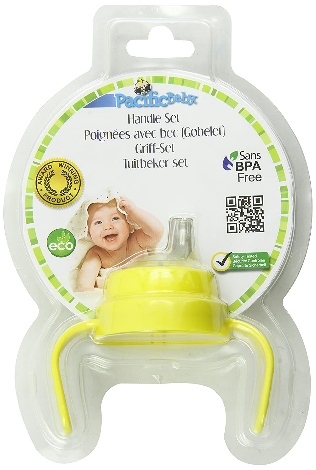 Pacific Baby Bottle Handle Set, Yellow #435