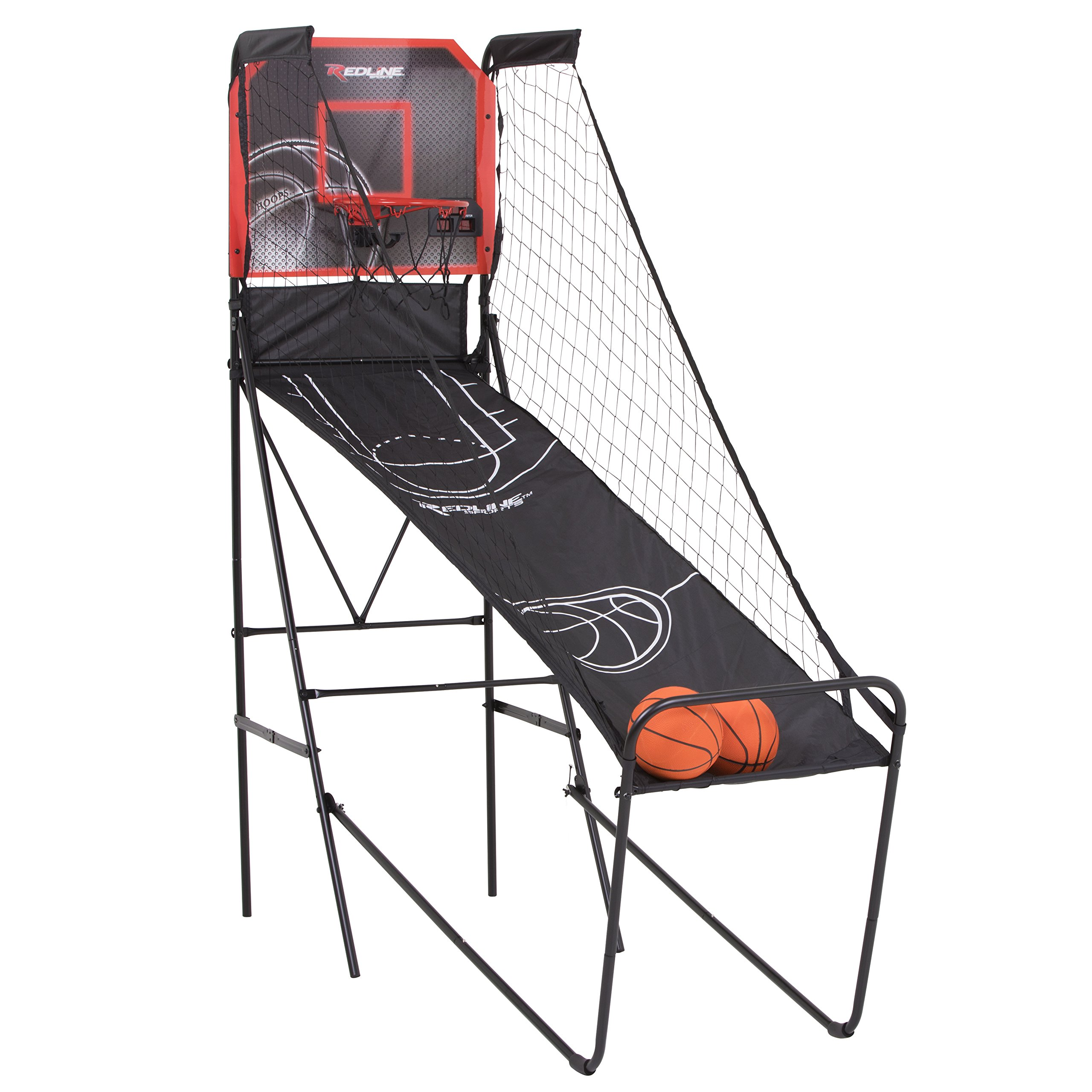 Redline Alley-Oop Single Basketball Shootout with Quick Connect Easy-to-Assemble Frame and Compact Fold-up Design for Easy Storage by Redline