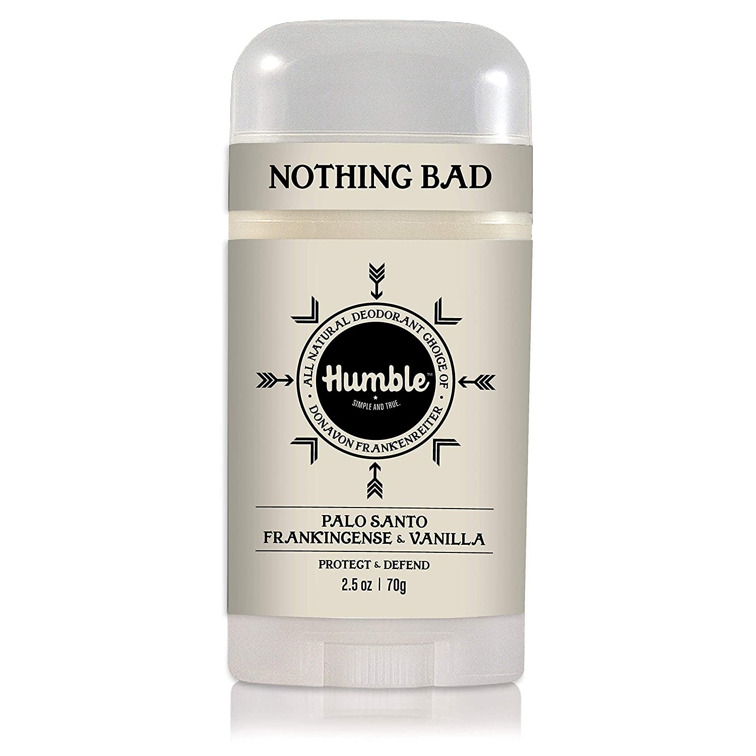 Humble All Natural Deodorant, Aluminum and Paraben Free, Cruelty Free Men's and Women's Deodorant, Palo Santo, Frankincense & Vanilla, Pack of 1