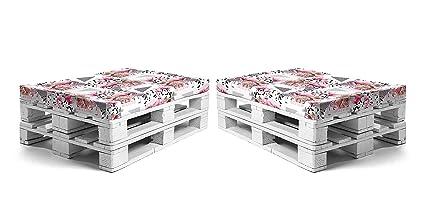 SUENOSZZZ - Pack 2 colchonetas para Sofa Palet. Muebles de Jardin con PALETS. Loneta HP Flamencos | Cojines para Chill out, Asientos de Jardin, Sofás ...