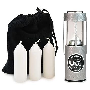 Amazon.com: UCO Linterna de velas, pack con 3 velas y bolsa ...