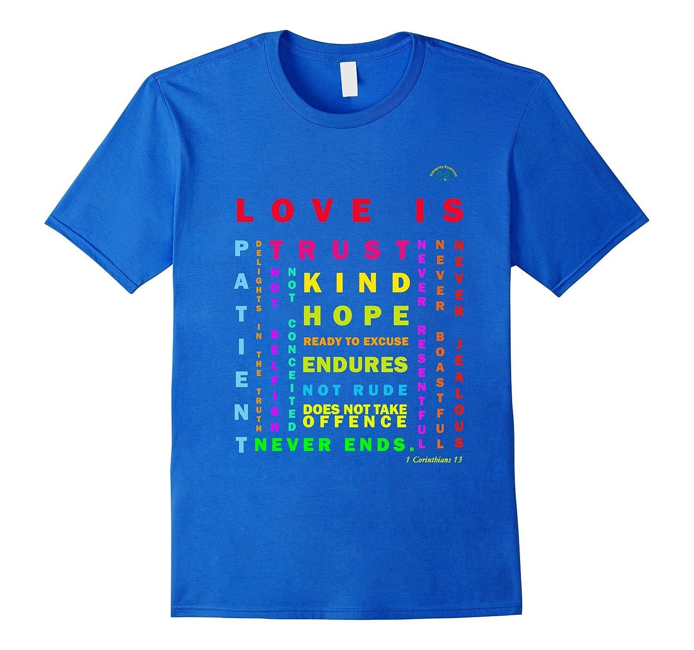 1 Corinthians 13 T-Shirt - Love Is Patient And Kind-PL