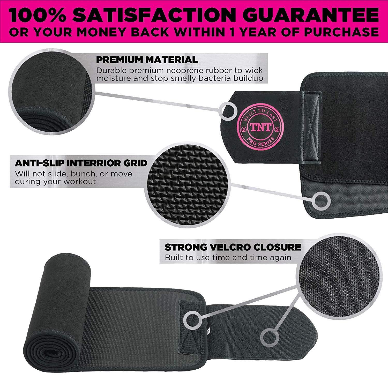 TNT Pro Series Waist Trimmer Weight Loss Ab Belt - Premium Stomach Fat  Burner Wrap and Waist Trainer (Original)