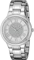 GUESS Women's Stainless Steel Crystal Accented Watch, Color: Silver-Tone (Model: U0637L1)