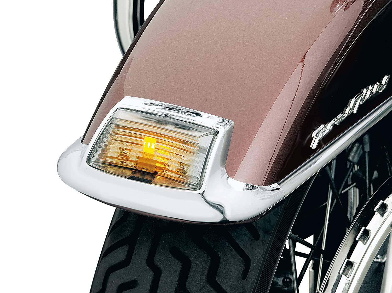 Amber Lights with Smoke Lens Kuryakyn 4994 Motorcycle Lighting Accessory Front Turn Signal//Blinker Lights and Fender Tip Lens Kit for 1986-2017 Harley-Davidson Motorcycles
