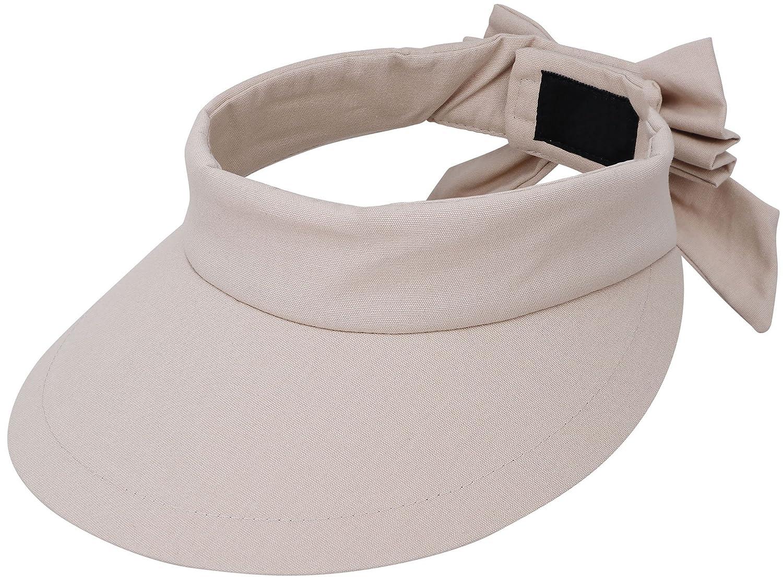 ff2fdece4c5 Amazon.com   ThunderCloud Women s Summer SPF 50+ UV Protection Sun Visor Hat