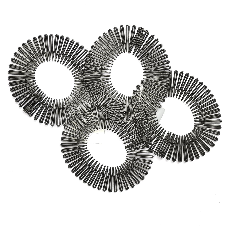 4 x Black Flexi Combs / Shark Combs / Hair Combs Chelsea Jones