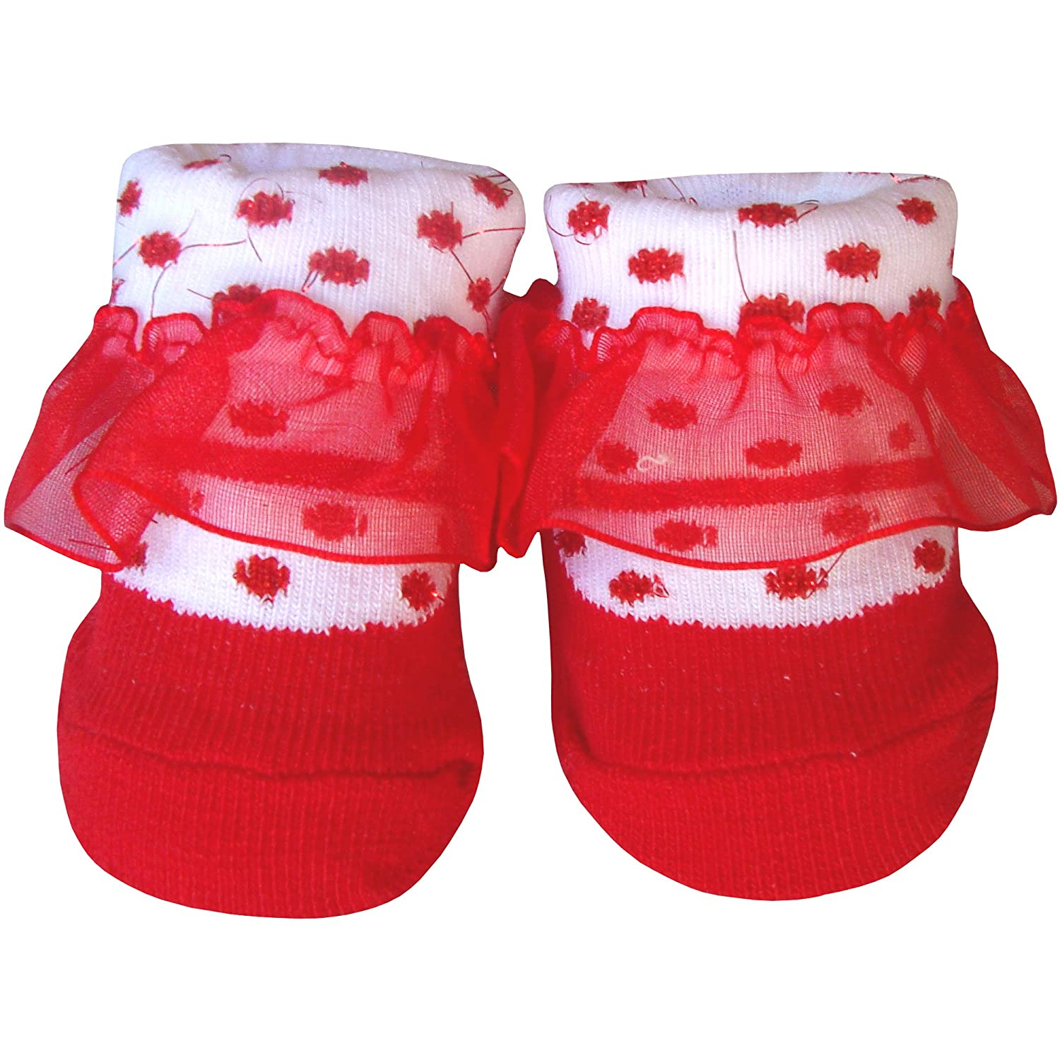 Baby Christmas Socks (Polka Dot Party Lace) Gigglewinks