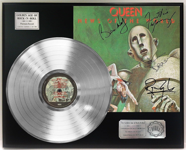 Queen News Of The World Platinum Lp Signature Display C3