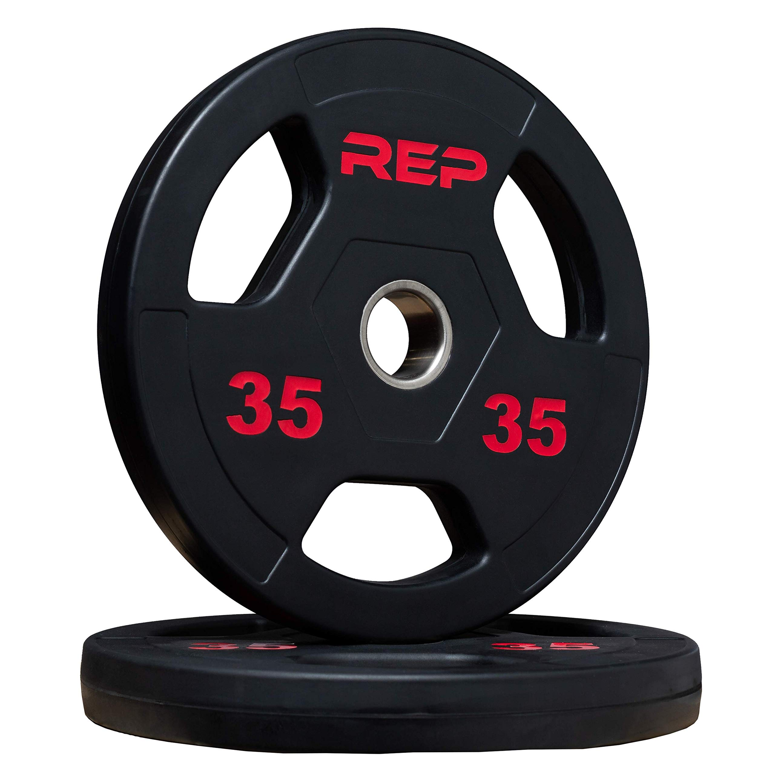 Rep Rubber Coated Olympic Plates 35 lb Pair