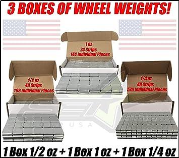 Amazon.com: Juego de 3 cajas de pesos de rueda de grupo USA ...