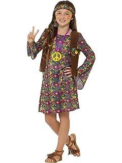Disfraz de hippie niña - 10 - 12 años: Amazon.es: Juguetes y juegos