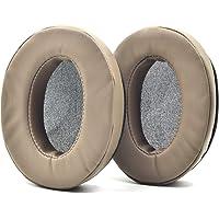 Defean Ear Pads for Audio Technica M30 M40 M50 M50X M50S M40X Headphone (Brown PU Earpads)
