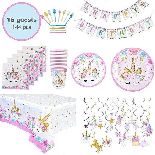 Juego de suministros para fiesta de cumpleaños con diseño de ...