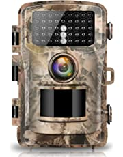 "Campark Trail Camera 1080P Hunting Cam 14MP 2.4"" Color LCD Wildlife Game Scouting Digital Surveillance Camera with 75ft/23m Infrared Night Vision 42pcs IR LEDs IP56 Waterproof"