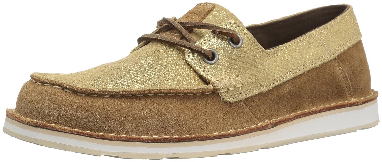 Ariat Women's Cruiser Slip-on Shoe B0719S8JD7 7.5 B(M) US|Rustic Bark/Sparklin' Gold
