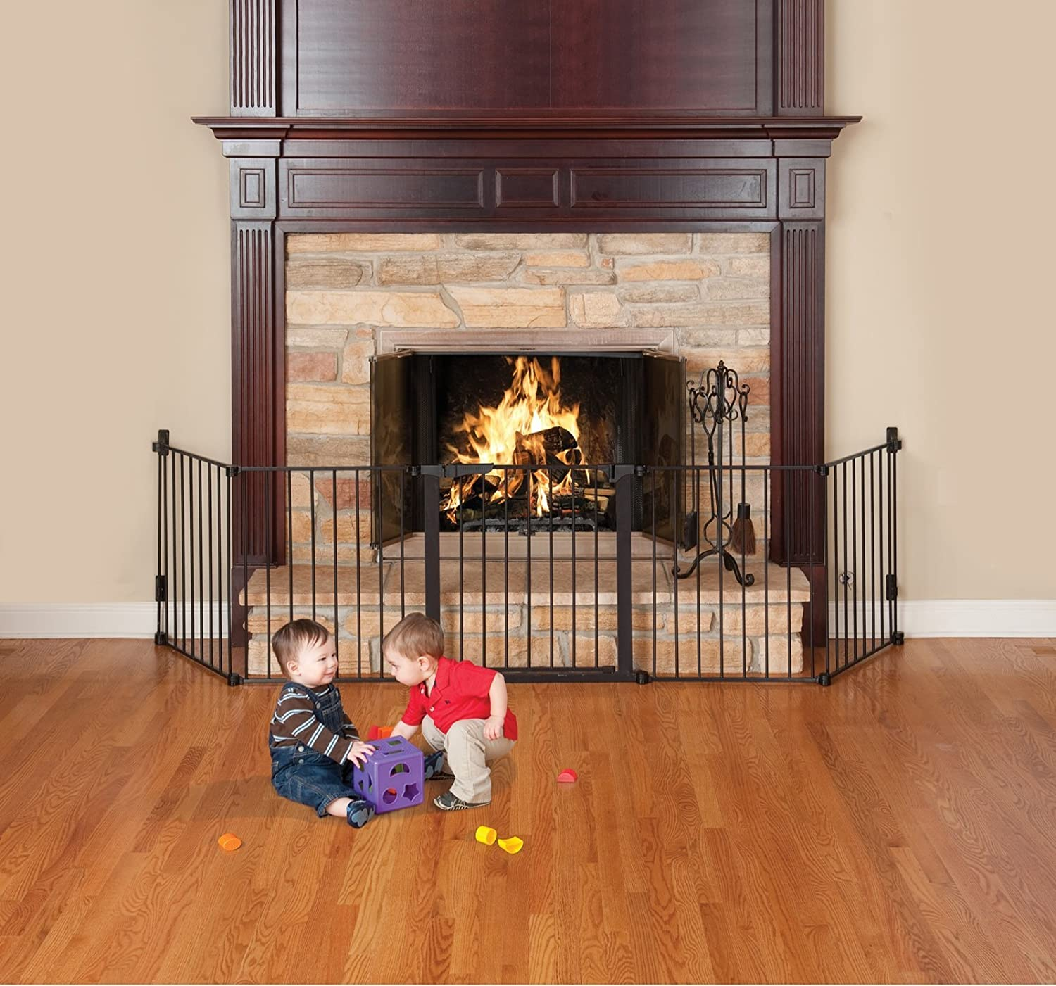 Beautiful Baby Fireplace Gate Part - 1: Amazon.com