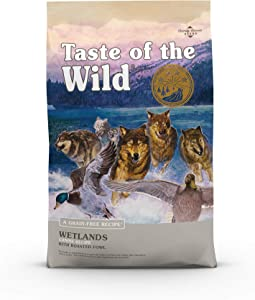 Taste of the Wild Roasted Fowl High Protein Real Meat Recipes Premium Dry Dog Food with Real Duck, Superfoods, and Nutrients Like Probiotics, Vitamins and Antioxidants