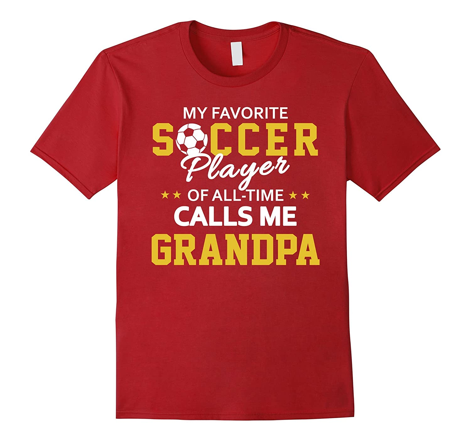 Mens Soccer Grandpa Grandson Granddaughter Shirt
