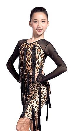 5bf3706d5f58 QYYT-GD GD3107 Kid Latin Ballroom Party Dance Professional Yarn Sleeve and  Handmade Tassel Swing