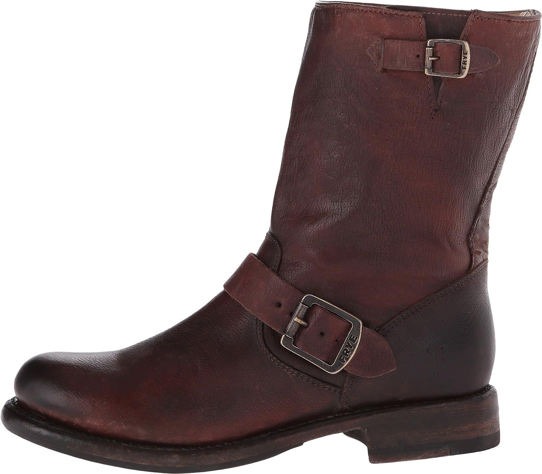 FRYE Women's 'Jenna Engineer' Boot B00SSS20HC 5.5 B(M) US,Dark Brown Stone Antiqued