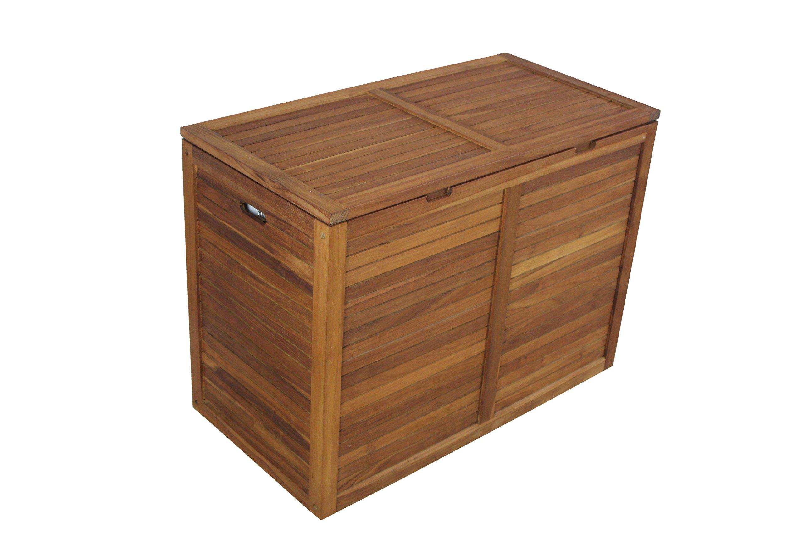 The Original Moa Double Teak Laundry or Storage Hamper