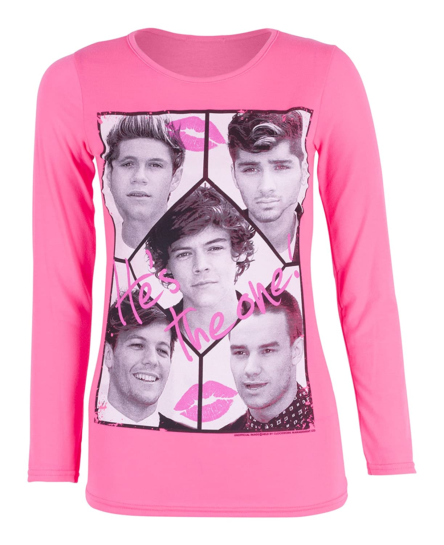 Girls One Direction Long Sleeve Top T-Shirt