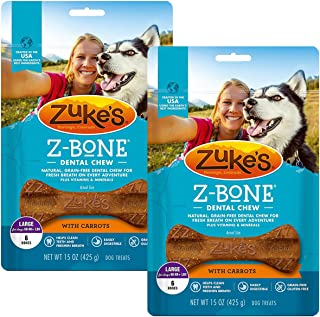 product image for Zuke's Z-Bone Dental Chew Dog Treats, Carrot, Large, 12 Chews