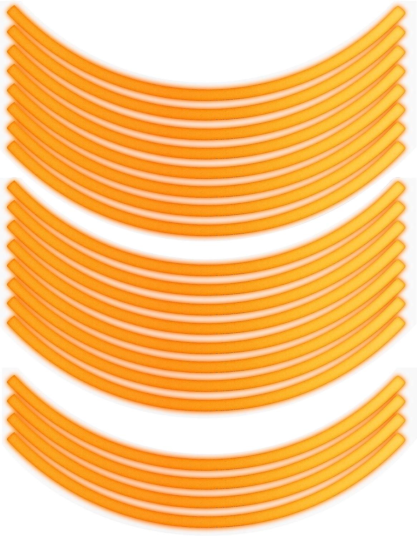 Bike Label Felgenrandaufkleber Set 700602 Classic Style Reflex Orange Auto