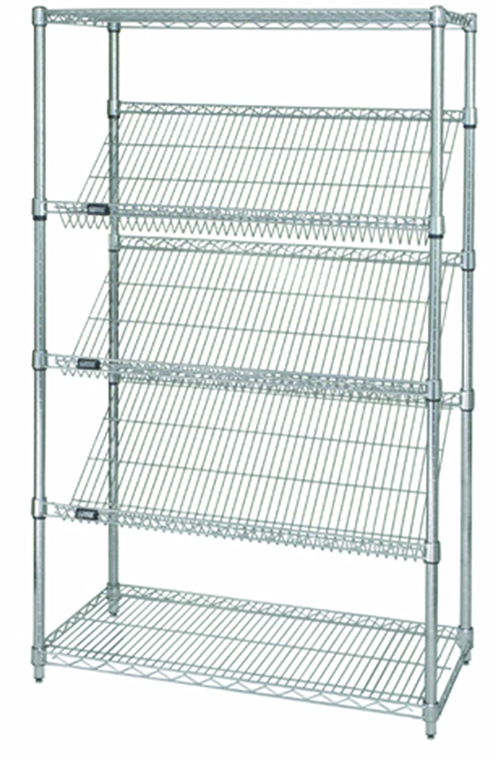 Quantum Storage Systems WRCSL5-63-1836 5-Tier Slanted Wire Shelving ...