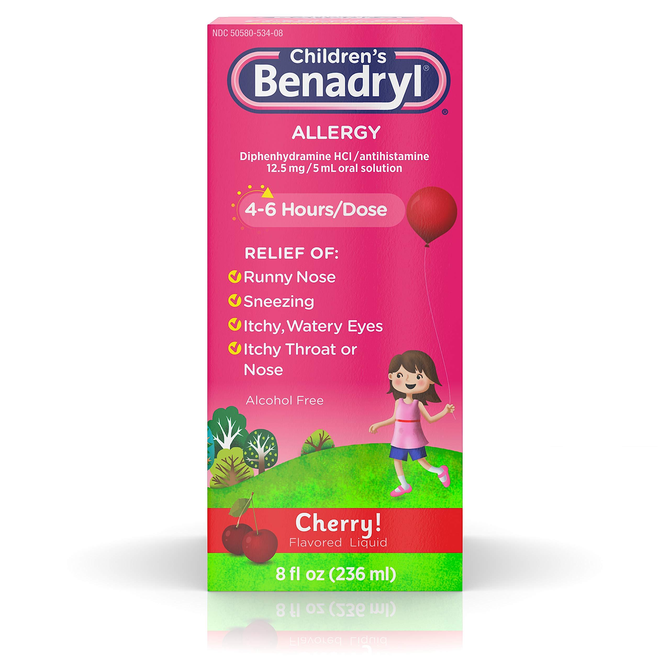 Children's Benadryl Allergy Liquid Cherry 8 oz