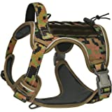 CBBPET Dog Tactical Harness for Large Medium Dogs, Tactical Dog Vest with Molle & Sturdy Handle, Front Leash Clip,Breathable