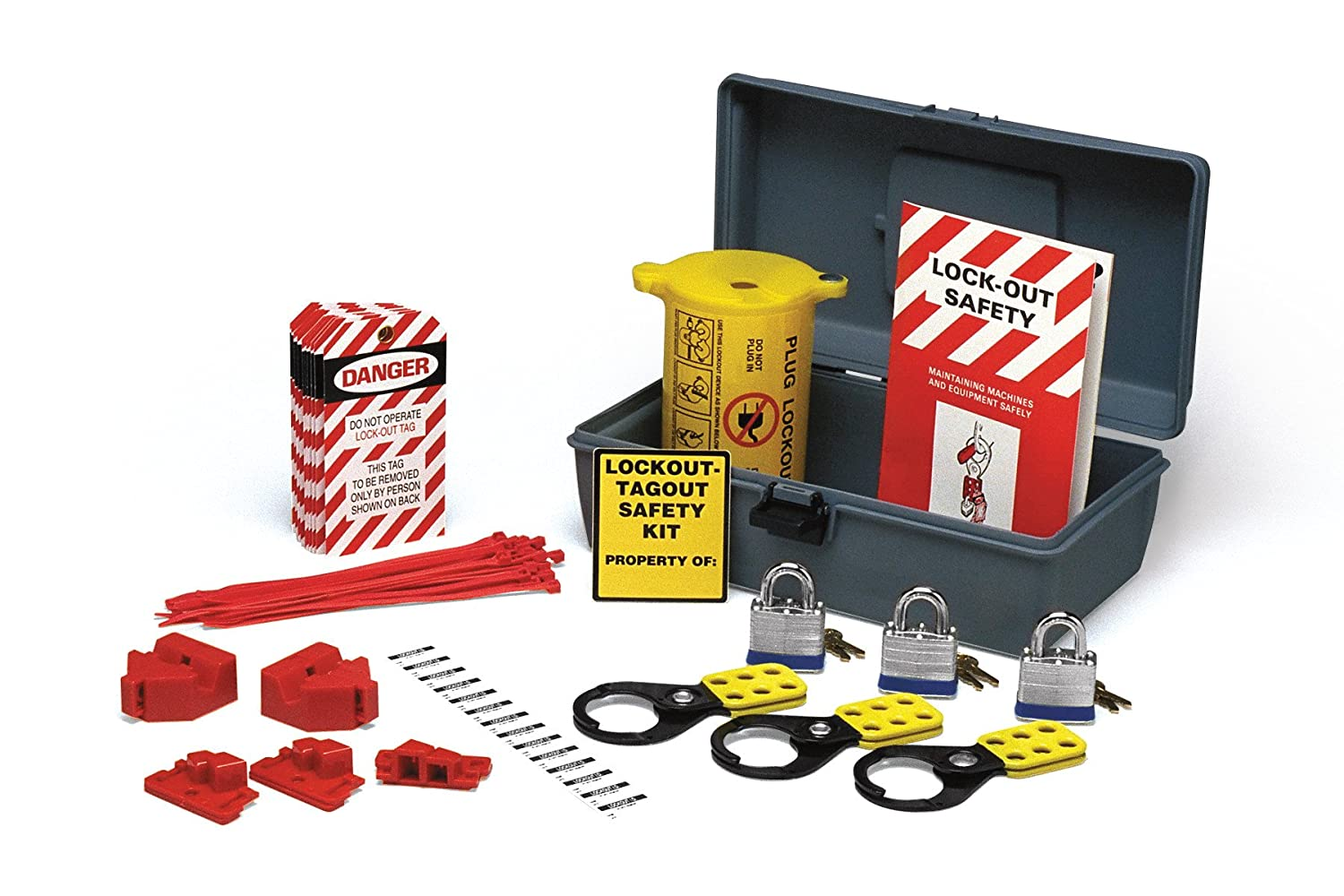 brady economy electrical lockout toolbox kit 45618 industrial lockout tagout kits amazoncom industrial scientific - Lock Out Tag Out Kits