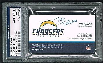 Tom telesco signed autograph business card san diego chargers gm psa tom telesco signed autograph business card san diego chargers gm psa slabbed colourmoves