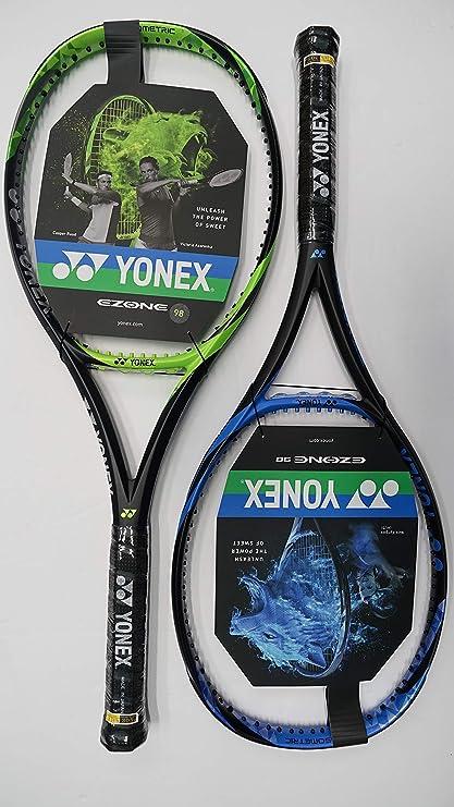 Yonex Ezone 98 Tennis Racquet, Free Synthetic Gut String (Blue #2 [4