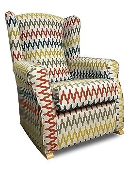SUENOSZZZ- Sillón Butaca Balancín orejero (Ideal para Lactancia) tapizado Jacquard FROCA Pisa