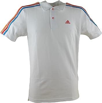 Adidas Basic - Camiseta tipo polo, diseño con 3 rayas, color ...