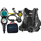 Cressi Ultralight Travel Scuba Diving Gear Package Assembled w/ GUpG Reg Bag