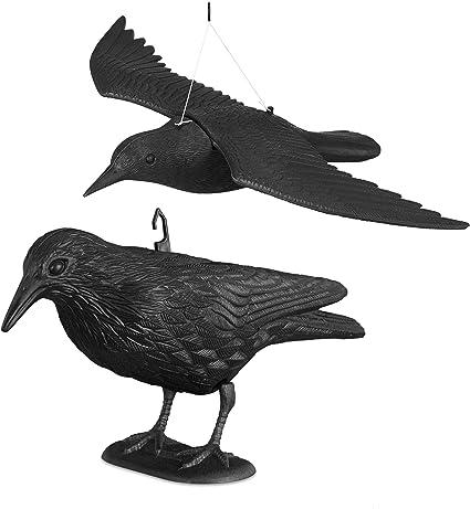 2x Taubenschreck Vogelscheuche Taubenabwehr Vogelabwehr Vogel Krähe Rabe