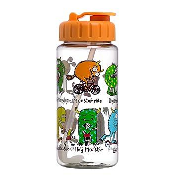 Botella con pajita- Monstruos