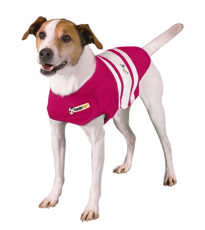 ThunderShirt Rugby Dog Anxiety Jacket Thundershirt Dog Shirt Large Pink PRL-T01