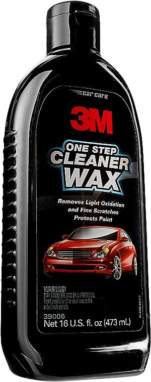 3M One Step Cleaner Wax, 39006, 16 oz