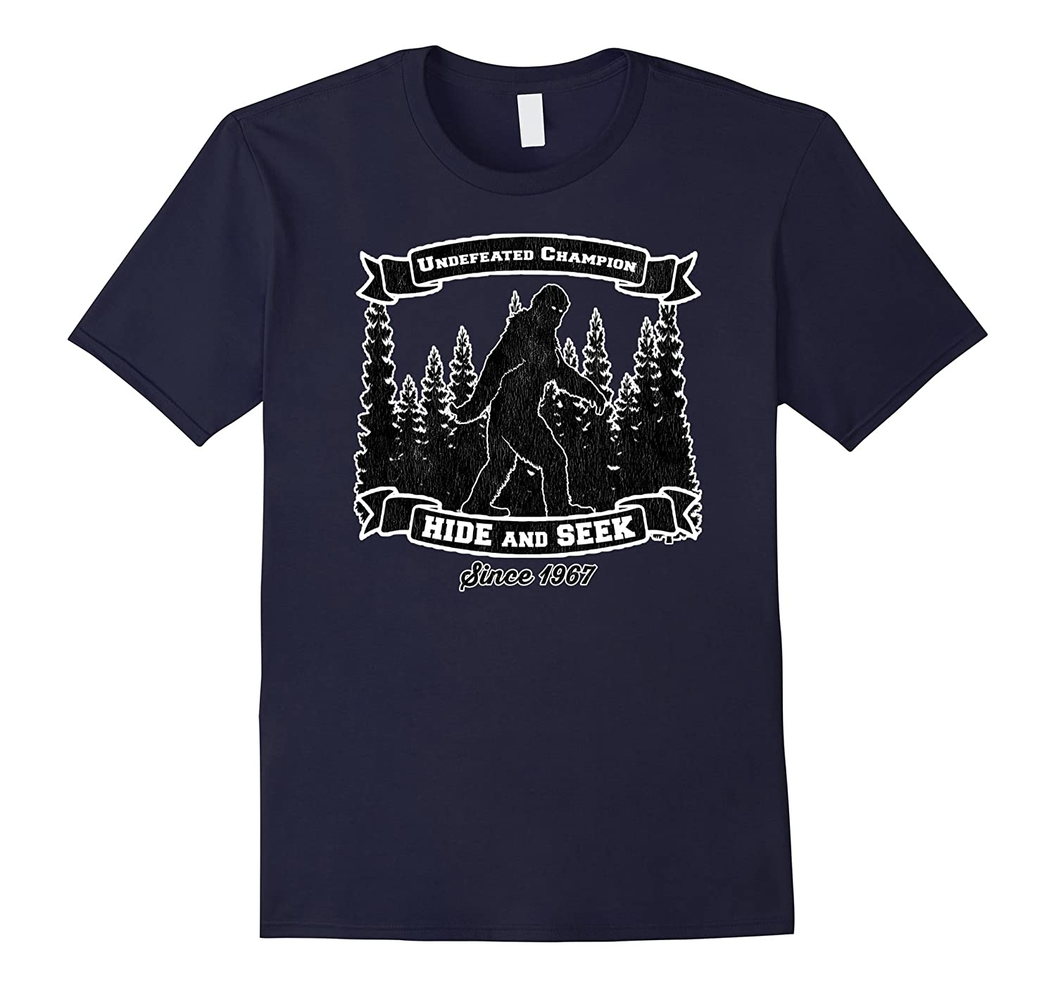 Bigfoot Hide And Seek Champion Shirt Funny Bigfoot T Shirt-TH