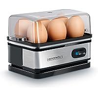 arendo - Cuiseur à Oeufs en Acier Inoxydable avec Fonction de Maintien de température - Egg Cooker - Capacité 6 œufs - Commutateur de Fonction à Bascule avec Voyant Lumineux - 400 W