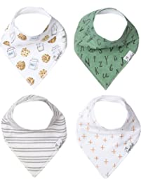 """Copper Pearl Baby Bandana Drool Bibs 4 Pack Gift Set for Boys, or Girls,""""Chip Set"""""""