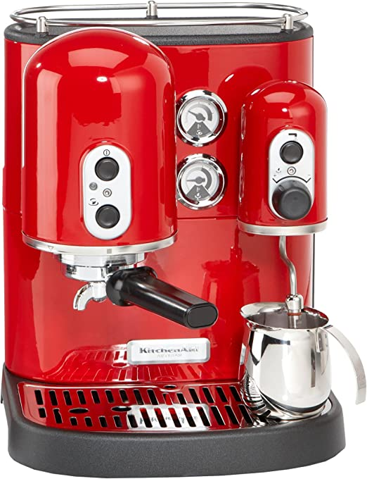 KitchenAid Artisan KES 100 - Cafetera de espresso, color rojo: Amazon.es: Hogar