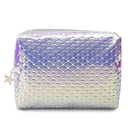 Amazon.com: Bolsa de cosméticos holográfica, bolsa de ...