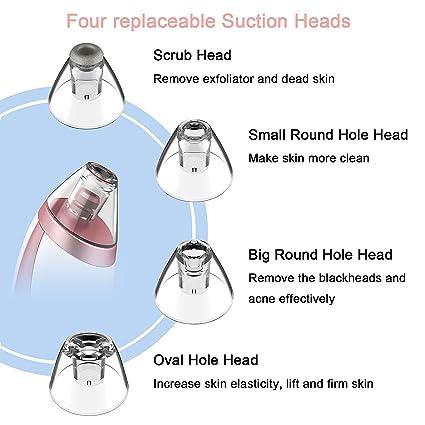 Limpiador de Poros Recargable,THZY mitesser acné Extractor al vacío poros reinige exfoliante diamantes cabeza eléctrica Pore limpiador vacío herramienta de ...