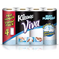 Kleenex Viva Kitchen Towel Rolls - Pack of 4 Rolls (4x55 Sheets x2 Ply)