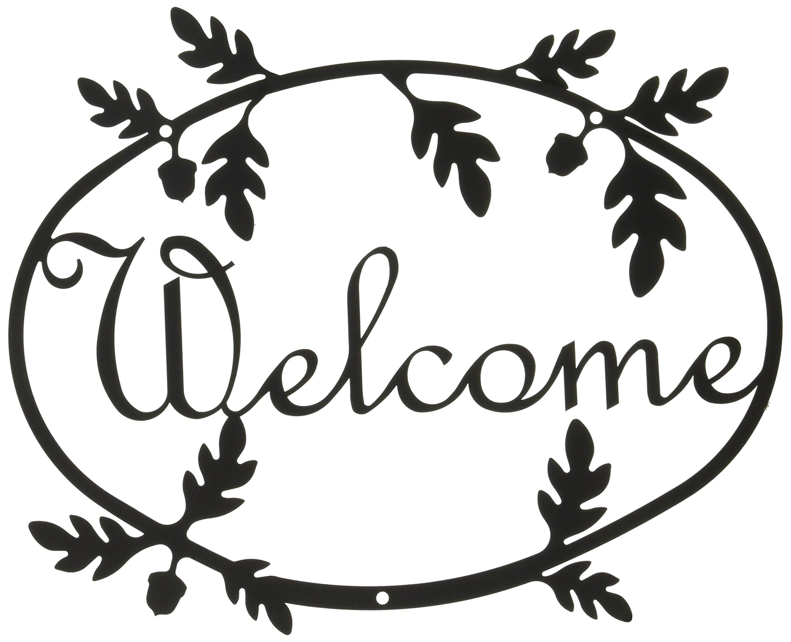 12 Inch Acorn Welcome Sign Medium